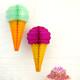 Ice Cream Cone Paper Honeycomb Decoration