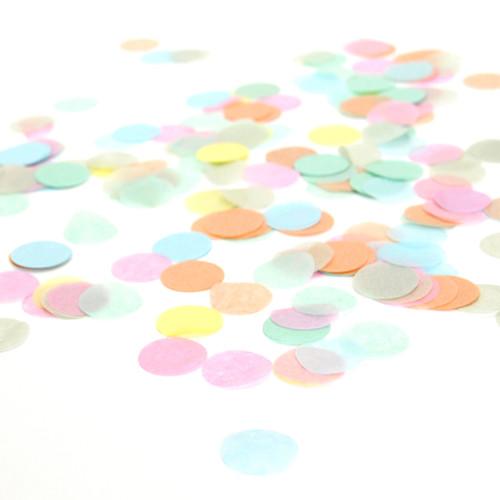 Stylish pastel tissue paper confetti
