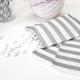 Grey Stripe Paper Party Bags