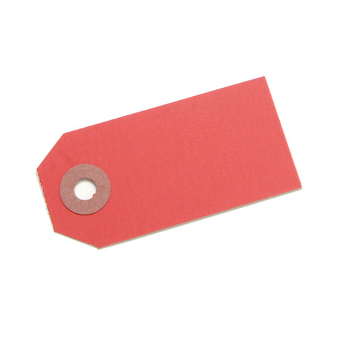 Red gift tags for wedding favours, place settings, birthday party gifts, present labels