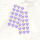 Purple heart stickers for wedding favours, gift wrap and craft projects