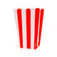 Red stripe popcorn boxes for carnival parties, circus wedding themes, popcorn birthday parties, movie nights or hen dos