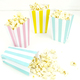 Purple stripe popcorn boxes for carnival parties, circus wedding themes, popcorn birthday parties, movie nights or hen dos
