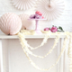 Ivory fringe festooning for balloon tails, party garlands and wedding table decorations
