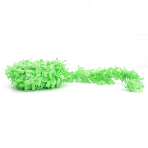 Green fringe festooning for balloon tails, party garlands and wedding table decorations