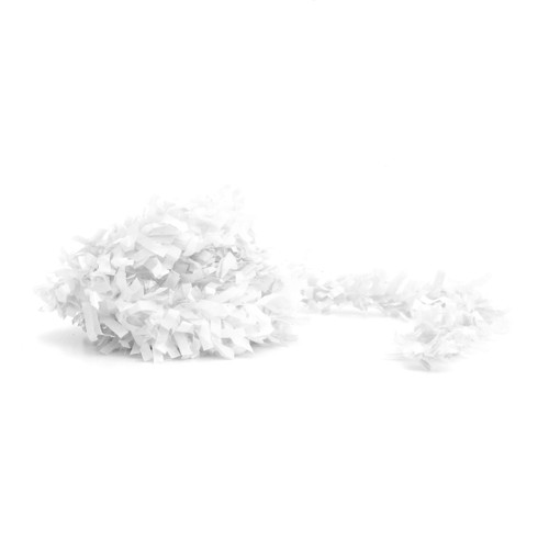 White fringe festooning for balloon tails, party garlands and wedding table decorations