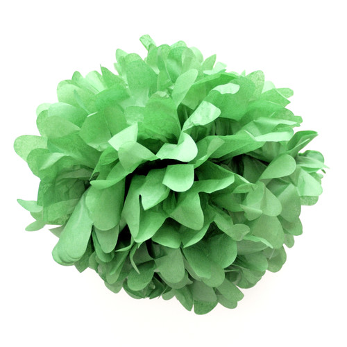 Green tissue paper pom pom decoration for birthday parties, weddings, hen dos and baby showers