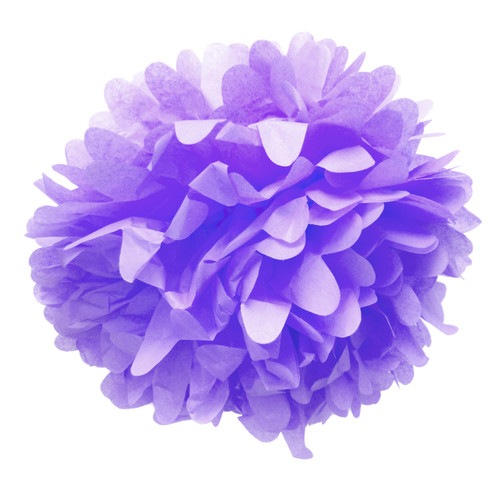 Lilac tissue paper pom pom decoration for birthday parties, weddings, hen dos and baby showers