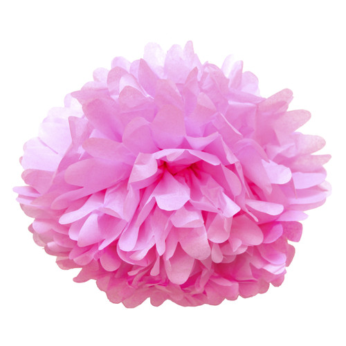 Light Pink tissue paper pom pom decoration for birthday parties, weddings, hen dos and baby showers