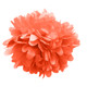 Coral tissue paper pom pom decoration for birthday parties, weddings, hen dos and baby showers