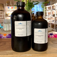 Elderberry Syrup -  Made with raw local honey