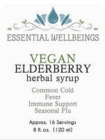 VEGAN Elderberry Syrup -  Immune Support