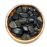 Obsidian, Gold Sheen - Tumbled - Small
