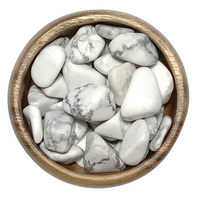 Howlite , White - Tumbled