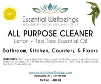 All Purpose Cleaner | Lemon + Tea Tree Essential Oil