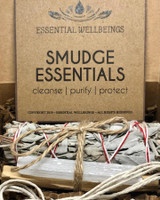 Smudge Essentials Box Set - White Sage, Palo Santo, Selenite