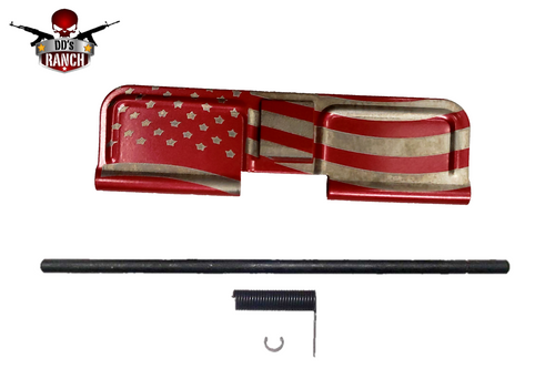 AR-15 AMERICAN FLAG DUST COVER (RED)