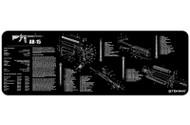 """TEKMAT AR-15 12""""x36"""" GUN CLEANING MAT (BLACK)"""