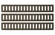 ERGO GRIPS 18-SLOT LADDER LOW PRO RAIL COVERS (3 PACK) (OLIVE DRAB GREEN)