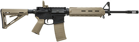 Smith & Wesson M&P-15 Magpul Edition 5.56mm/223 Rem NEW YORK SAFE ACT LEGAL rifle features 6 position stock, flash hider, flip rear sight, extended rear take down pin, and a fixed 10 round magazine. It is New York State legal because it has a fixed 10 round magazine and is a top loader. New York does not consider this rifle an assault weapon and therefor is transferable and does not need to be registered. Picture Is An Example Picture.