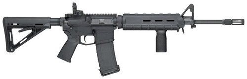 Smith & Wesson M&P15 Magpul Edition NEW YORK STATE SAFE ACT LEGAL AR-15 Type Rifle (Black)  Smith & Wesson M&P-15 Magpul Edition 5.56mm/223 Rem NEW YORK SAFE ACT LEGAL rifle features 6 position stock, flash hider, flip rear sight, extended rear take down pin, and a fixed 10 round magazine. It is New York State legal because it has a fixed 10 round magazine and is a top loader. New York does not consider this rifle an assault weapon and therefor is transferable and does not need to be registered. Picture Is An Example Picture.  Federal Law Requires This Item To Be Picked Up In Person In Our Store Or Must Be Shipped To An FFL Dealer In Your Area