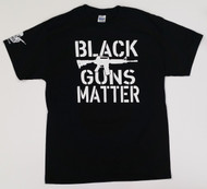 "DD'S RANCH ""BLACK GUNS MATTER"" T-SHIRT (LOGO ON SLEEVE)"