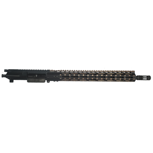 """AR-15 5.56mm/223 Rem COMPLETE UPPER ASSEMBLY WITH 15"""" BRONZE M-LOK FREE FLOAT HANDGUARD"""