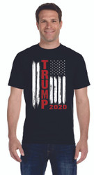 TRUMP 2020 FLAG SHIRT WITH LOGO ON SLEEVE