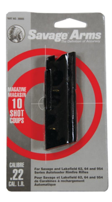SAVAGE ARMS 10 ROUND MAGAZINE FOR SAVAGE AND LAKEFIELD  62, 64 AND 954 SERIES AUTOLOADING 22LR CALIBER RIFLES