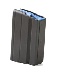 ASC AR-15 6.5 GRENDEL 10 ROUND MAGAZINE WITH STAINLESS STEEL BODY & BLUE ANTI-TILT FOLLOWER
