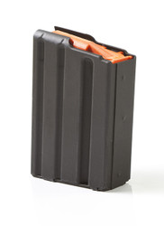 ASC AR-15 5.56mm/223 Rem 5 ROUND MAGAZINE WITH STAINLESS STEEL BODY & ORANGE ANTI-TILT FOLLOWER