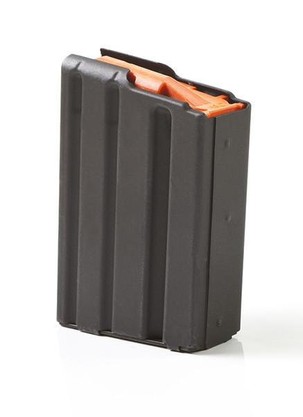 ASC AR-15 5.56mm/223 Rem 5 ROUND MAGAZINE WITH STAINLESS STEEL BODY & ORANGE ANTI-TILT FOLLOWER