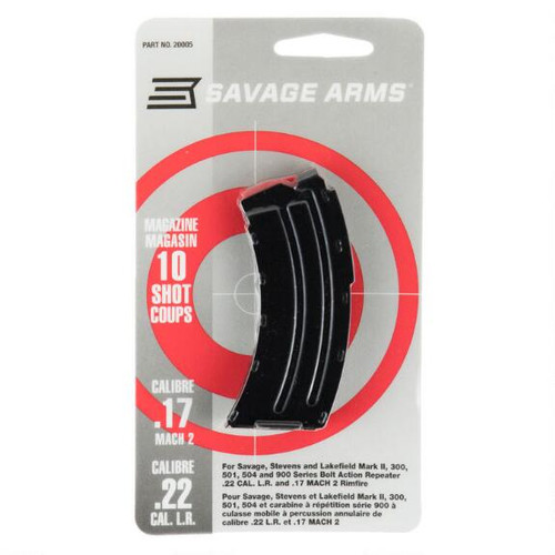 SAVAGE ARMS 22LR/17 MACH 2 10 ROUND MAGAZINE FOR MODELS MARK II, 300, 501,504 & 900 SERIES BOLT ACTION RIFLES