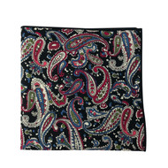 Wine Paisley Pocket Square