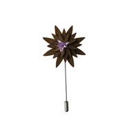 Wooden Lilac Lapel Pin