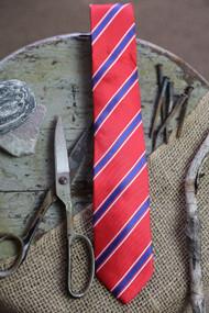 Red White Blue Stripe Necktie