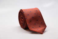 Burnt Orange Dot Necktie