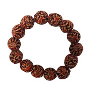 Orange Lava Bead Bracelet