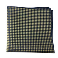 Blue and Gold Mosaic Pocket Square