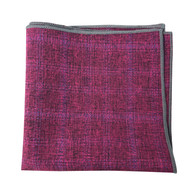 Fuschia Pattern Pocket Square