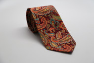 Autumn Orange Paisley Necktie