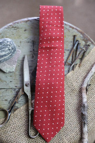 Rhubarb Dot Necktie