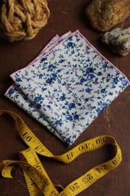 Blueberry Floral Pocket Square