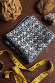 Blue Green Mosaic Pocket Square