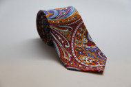 Purple Jazz Paisley Necktie