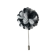 Gray & White Lapel Pin