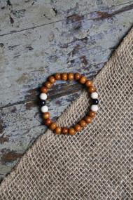 Carrot Bead Bracelet