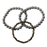 3 Piece Set - Silver 'n Gold Bracelets