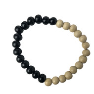 Black 'n White Bead Bracelets