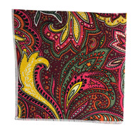 Carnival Paisley Pocket Square